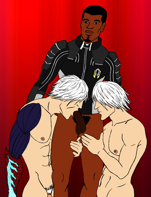 series featuring and may dante from cry devil knuckles the Sensei what are you doing here