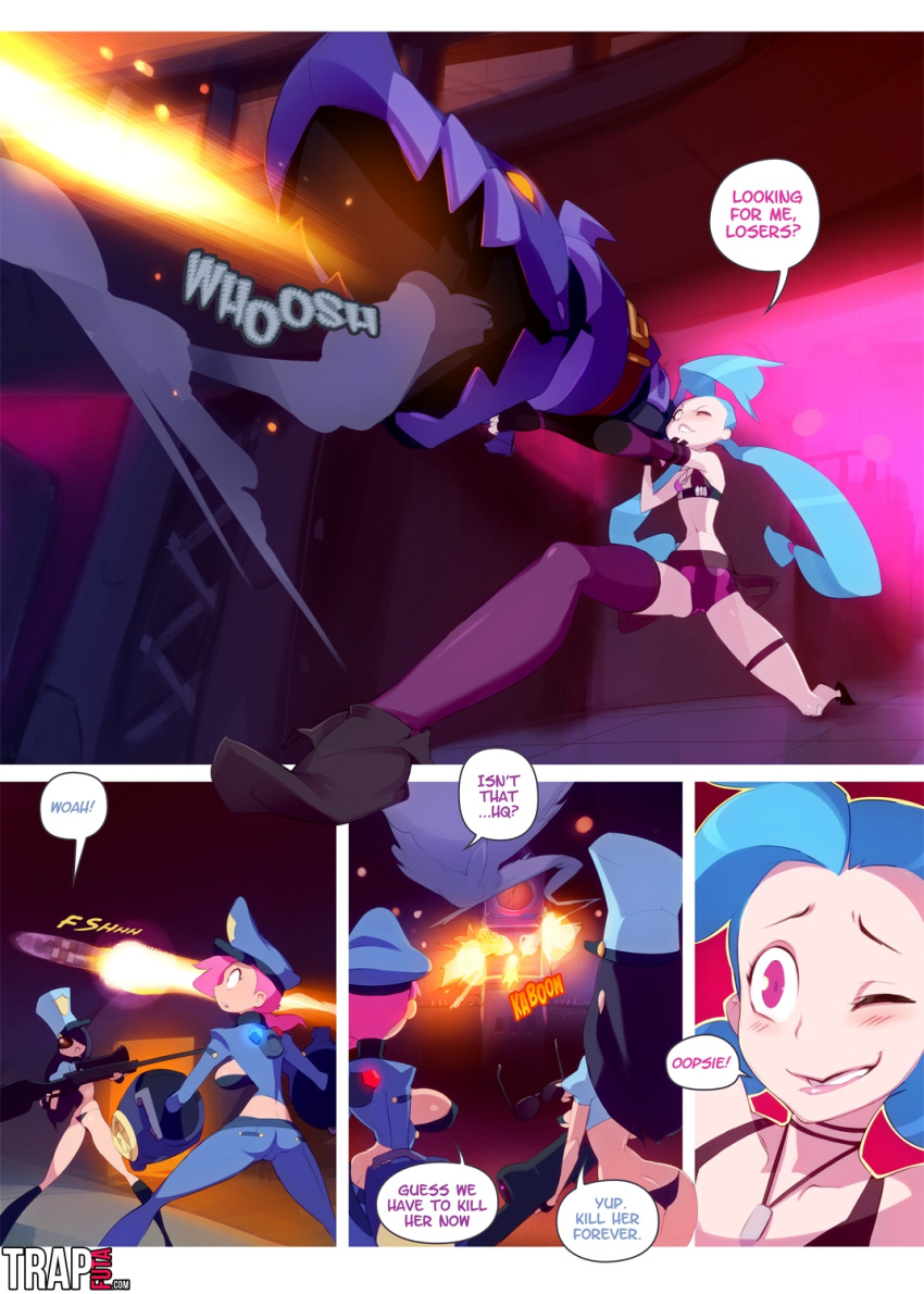 caitlyn x vi of league legends The perry bible fellowship weeaboo